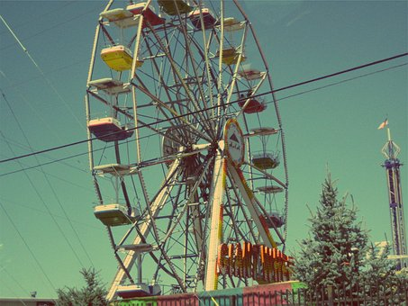 Ferris Wheel, Fair, Fun, Amusement Park