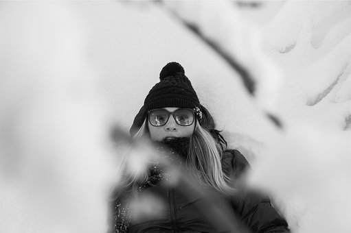 Girl, Model, Blonde, Sunglasses, Hat, Toque, Winter