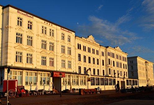 Borkum, Promenade, Building, Architecture, House Houses