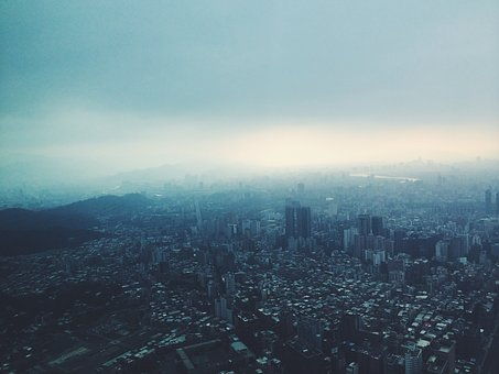 City, Aerial, View, Buildings, Architecture, Towers