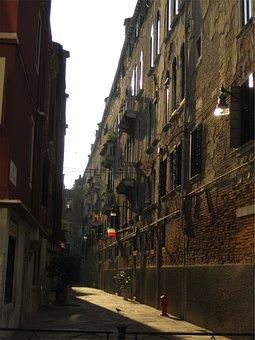 Buildings, Houses, Apartments, Bricks, Walls, Alley