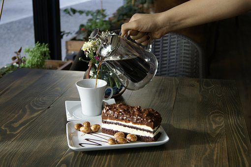 Cake, Filter, Coffee, Chocolate, Pastry, Hand
