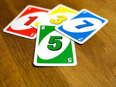 Un, Card Game, Cards, Socializing, Color, Wooden Table