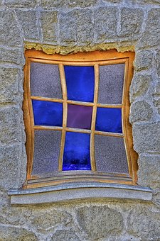 Window, Glass, Old Window, Colorful, Disc, Old