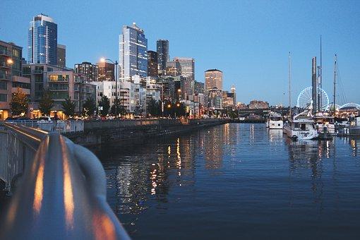 Port, Marina, Harbor, Harbour, Boats, Docks, Buildings