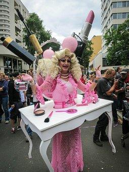 Drag Queen, Makeup, Vanity, Brush, Mirror, Comb, Pink
