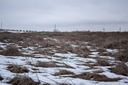 Power Lines, Fields, Snow