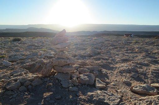 Valle De La Luna, Chile, Desert, Sand, Rocks