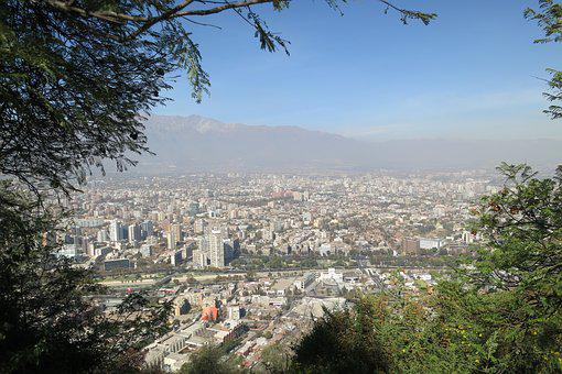 San Cristã³Bal Hill, Santiago, Chile