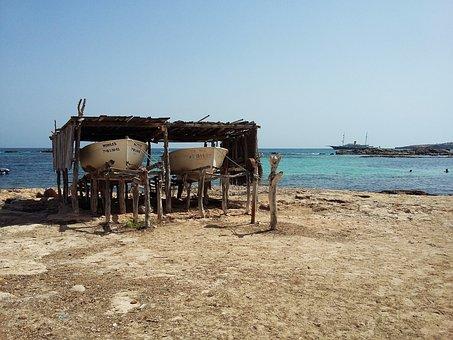 Sea, Beach, Sand, Boats, Boat, Blue, Sky, Holiday