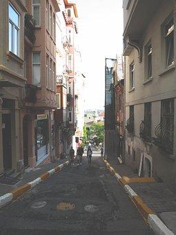 Alley, Streets, Sidewalk, People, Walking, Pedestrians