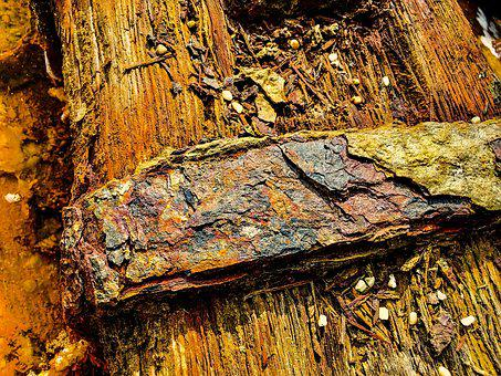 Metallic, Surface, Structure, Corrosion, Weathered