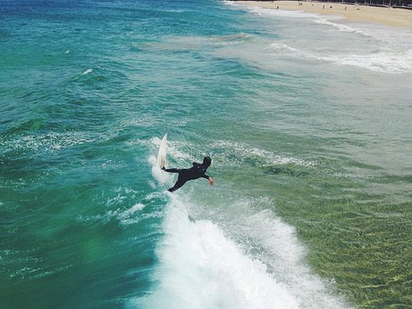 Surfing, Surfer, Surfboard, Waves, Ocean, Sea, Water