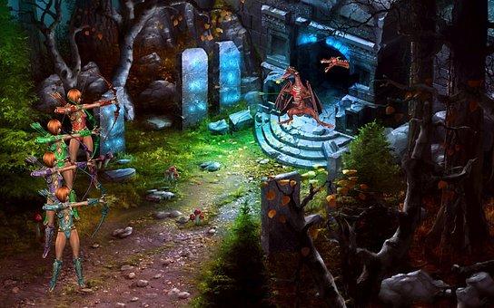 Fantasy, Amazone, Dragons, Mystical, Mythical Creatures