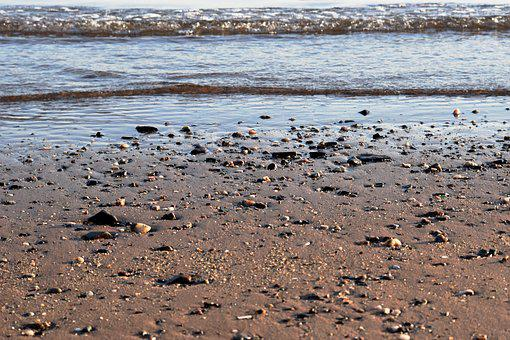 Beach, Sea, Water, Shore, Sand, Rocks, Pebbles, Coast