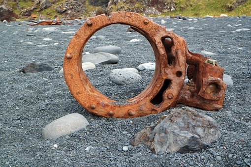 Rust, Wreck, Boat, Iceland, Beach, Pebbles, Memories