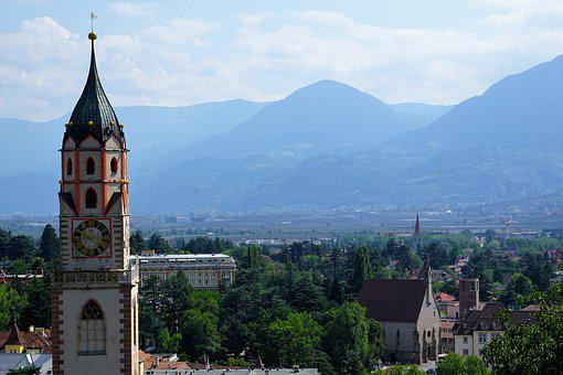 Church, Meran, Religion, Italy, South Tyrol, Holiday