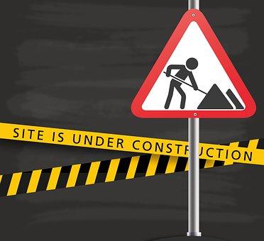 Under Construction, Construction Sign, Site, Shield