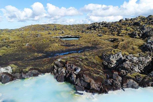 Iceland, Blue Lagoon, Water, Lava, Foam, Nature