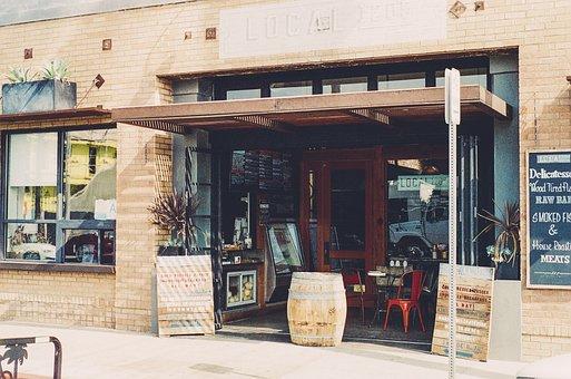 Local, Restaurant, Menu, Food, Barrel, Bricks, Signs
