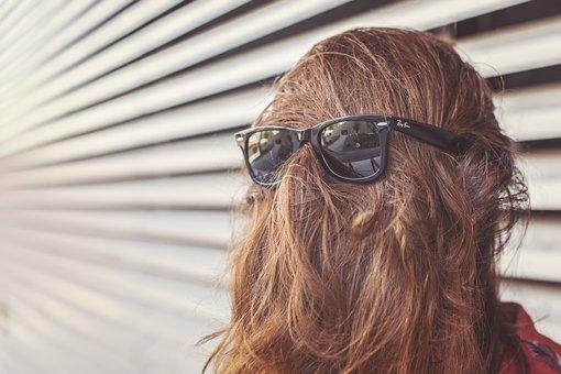 Brown, Hair, Brunette, Girl, Sunglasses