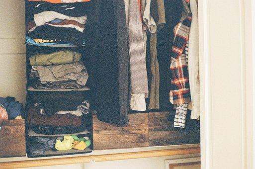 Closet, Clothes, Shirts, Pants