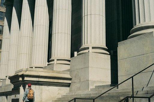 City Council, Building, Pillars, Architecture, Steps
