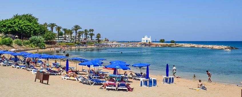 Cyprus, Protaras, Beach, Mediterranean, Summer