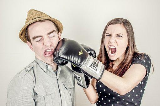 Boxing, Glove, Fighting, Punching, Girl, Woman, Guy