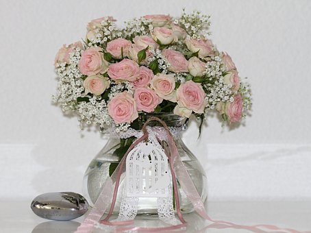 Bouquet Of Roses, Pink, Love, Bouquet, Roses, Blossom