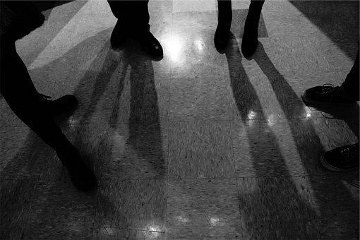 Tiles, Floors, Shadows, Shoes
