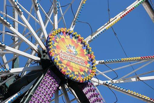 Manege, Fair, Ferris Wheel, Attraction, Sky, Fun