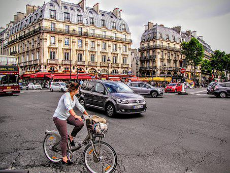 Paris, Place-saint-michel, Street Scene, Square