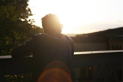 Man, Guy, Sunglasses, Leather Jacket, Sunshine