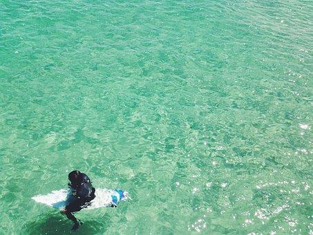 Surfer, Surfing, Surfboard, Wetsuit