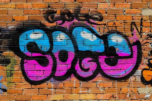 Graffiti, Wall, Brick, Paint, Spray, Street, Colorful
