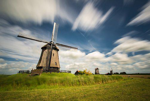 Windmills, Windmill, Old Windmill, Mill, Monument, Wind