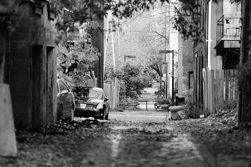 Alley, Street, Fences, Apartments, Railings, Balconies