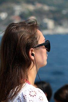 Woman, Girl, Elegant, Face, Bella, Hair, Glasses