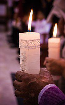 Candle, Light, Baptism, Flame, Fire, Decoration