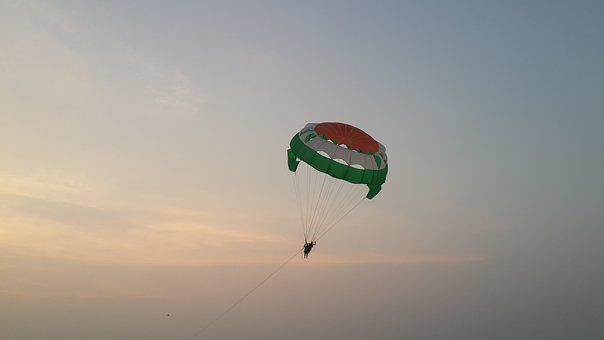 Diving, Skydiving, Parachute, Fly, Sport, Adventure