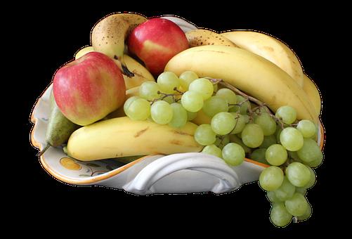 Fruit, Bowl, Png, Banana, Apple, Grape, Pear, Food
