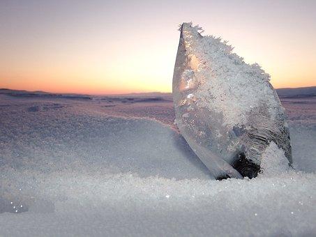 Baikal, Lake, Ice, Ice Floe, Winter, Hummocks, Shadow