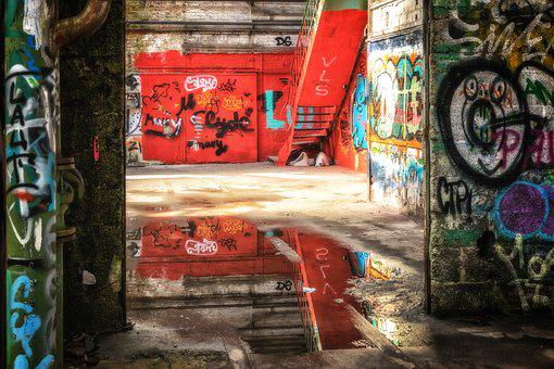 Lost Places, Pforphoto, Graffiti, Factory, Building