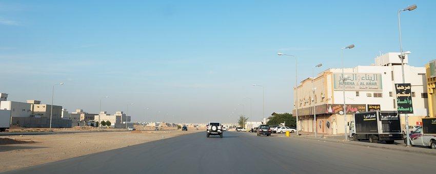 Road, Riyadh, Saud Arabia, Traffic, Sky, Blue, Arabic