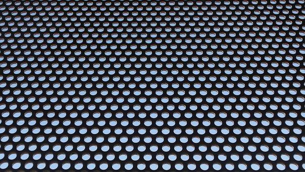 Holes, Sheet, Grid, Metal, Perforated Sheet, Pattern