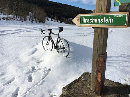 Snow, Road Bike, Mountain, Deer Stone, Pass, Cycling
