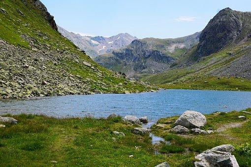 Flüelapass, Pass, Switzerland, Summer, Lake, Cold