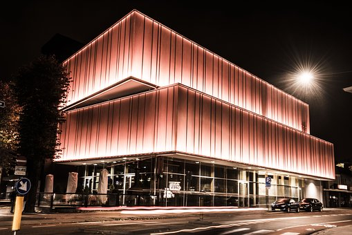 By Night, Theater, Theatre, Architecture, Building