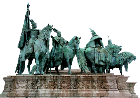 Budapest Hungary, Heroes Square, Statue, Monument